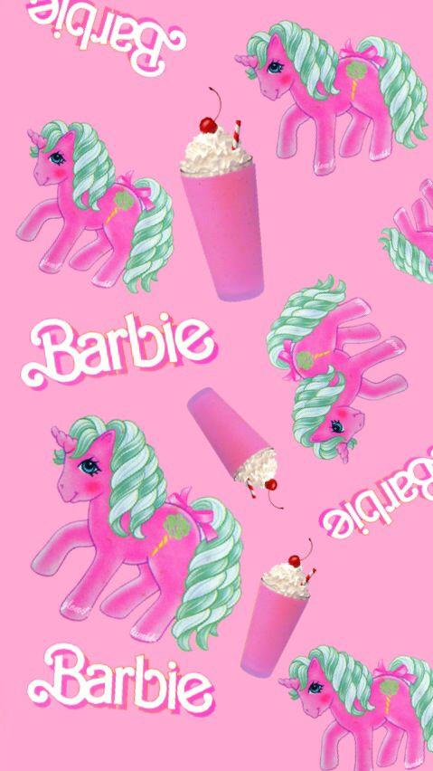 Univorn barbie pink Wallpaper Pinterest Wallpaper