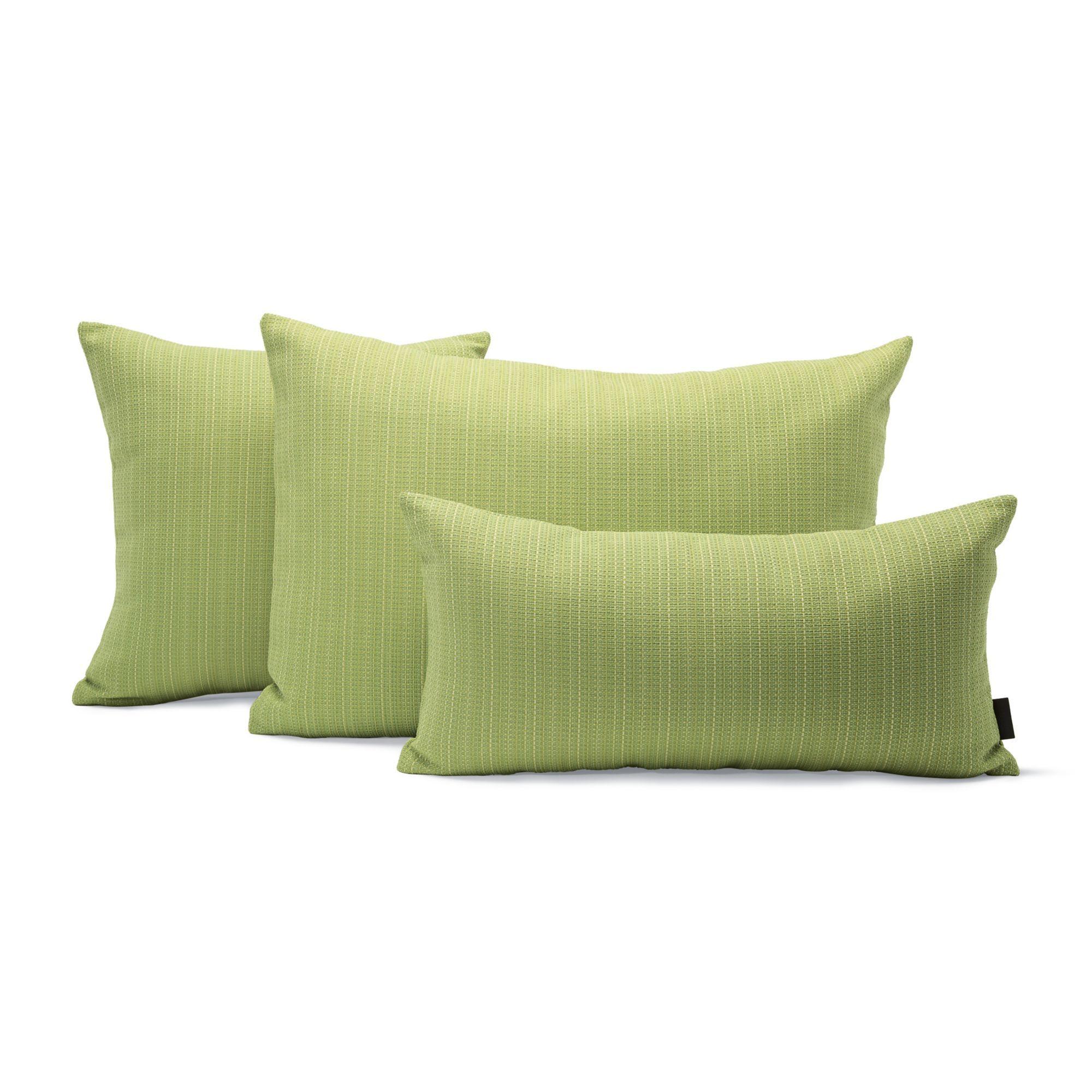 Maharam outdoor pillow in chalet