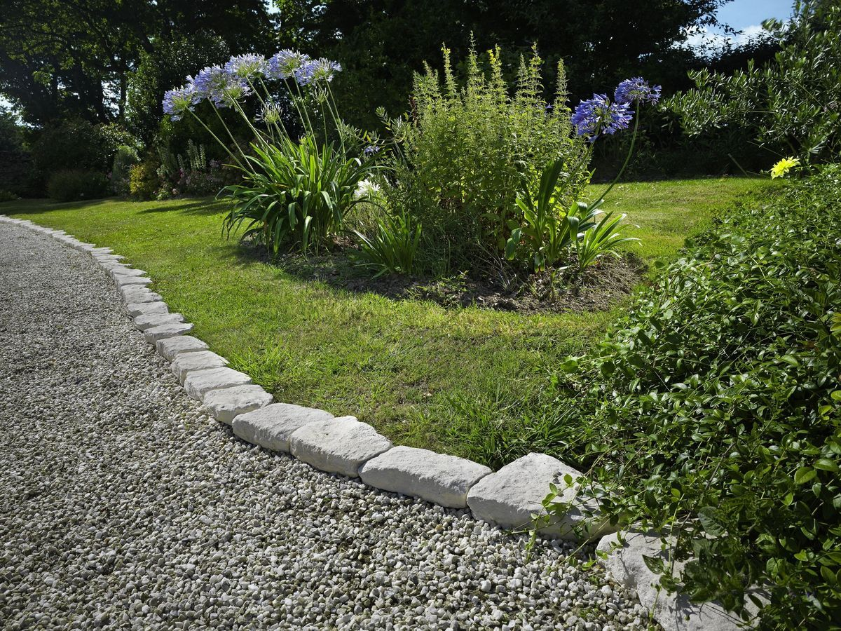 Gartenweg Einfassung Stone Garden Borders And Edging - Bing Images | Garden ...