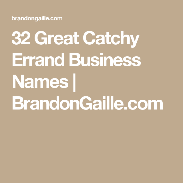 101 Great Catchy Errand Business Names Cake Business Names