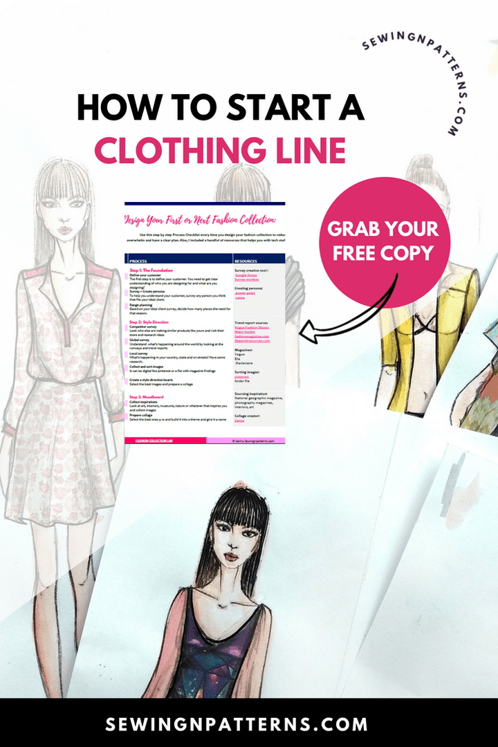 How To Start A Clothing Line Free Checklist To Design Your Fashion Collection Fashion Design School Diy Fashion Show Fashion Inspiration Design