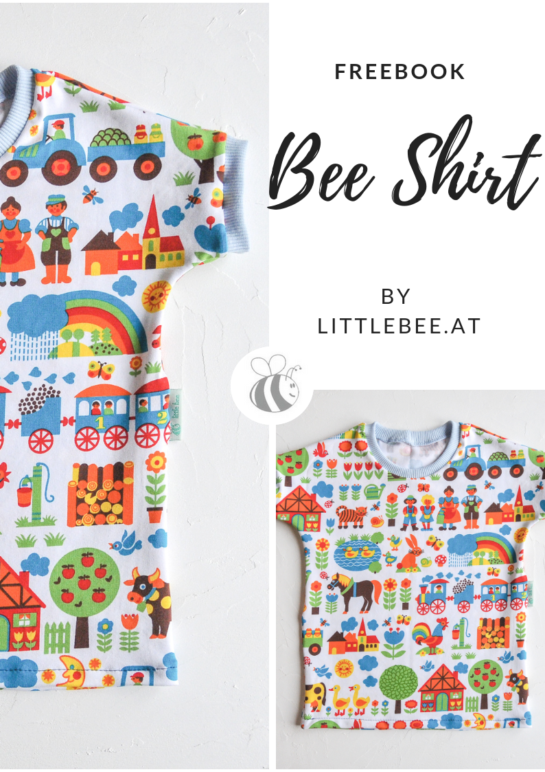 BEE Shirt FREE Book Kindershirt - LITTLEBEE