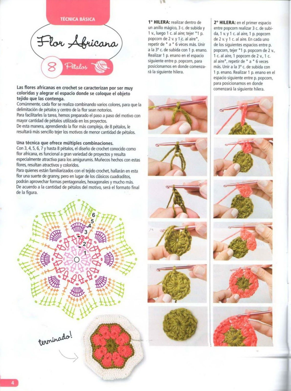 revistas de manualidades gratis | flor africana | Pinterest ...