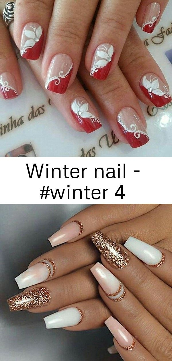 Winter nail  4 Winter nail  Winternagel Farben 2018 Nägel Beste Nägel Nägel Nagelideen Nagelideen Silberne Nägel BeautyTipps