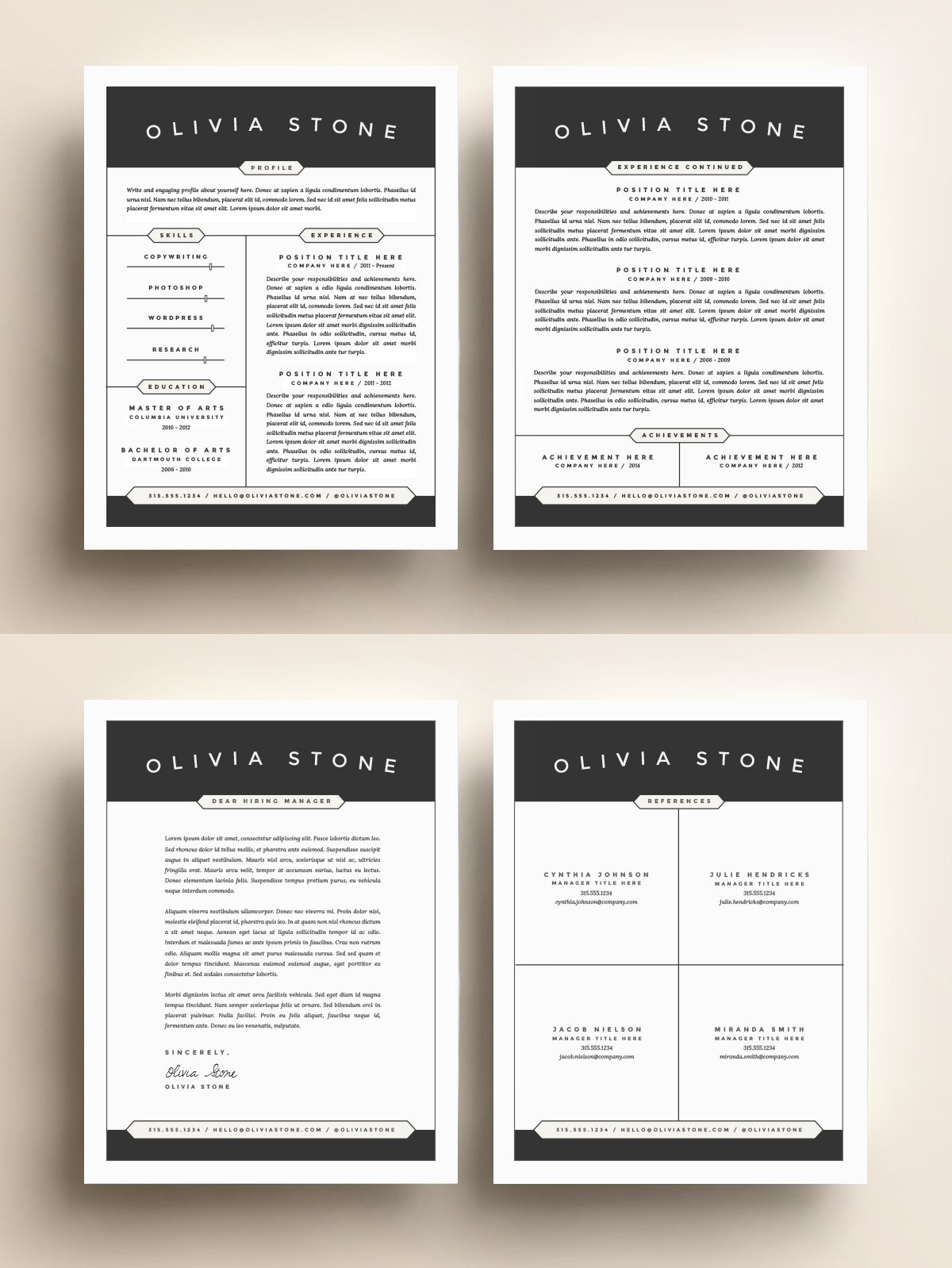 Awesome modern resume / CV template without the unnecessary fluff ...