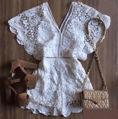 69e1815add Macaquinho De Renda - Mira Luxo Modas - Moda Feminina