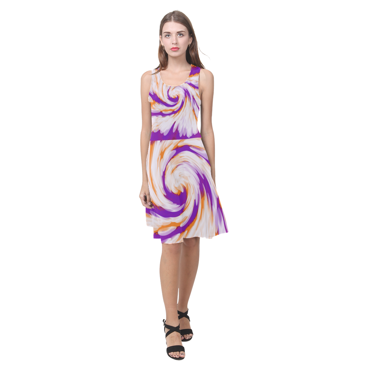 054ce18edc Green and Black Waves 3 4 Sleeve Sundress (D23) in 2019