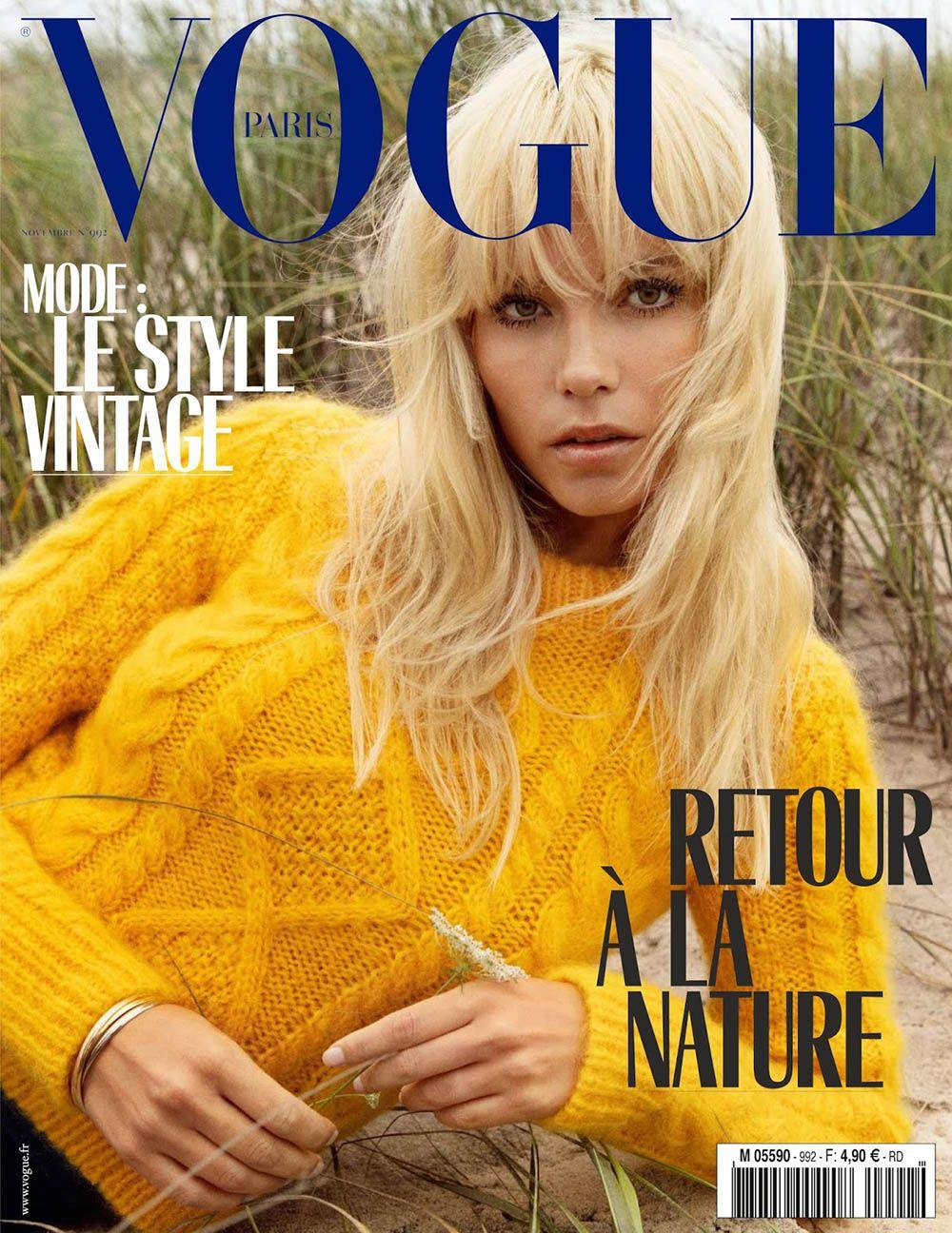 Natasha Poly covers Vogue Paris November 2018 by Inez and Vinoodh ... 51546454c8