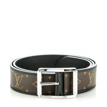 efb024a14d62 LOUIS VUITTON Mens Monogram Macassar Reverso 40mm Belt 95 38 ...