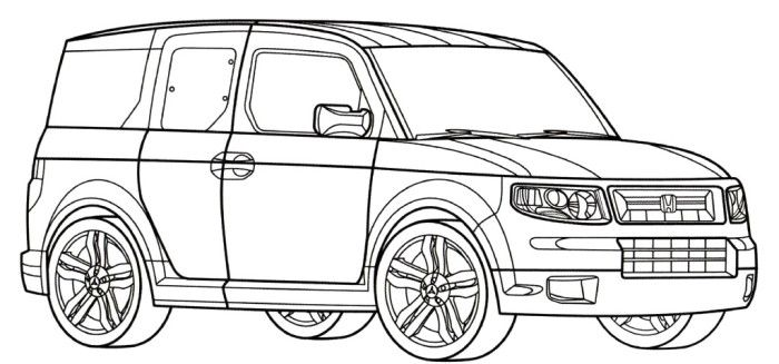honda element sc coloring page
