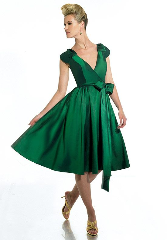 Green Knee Length Dress