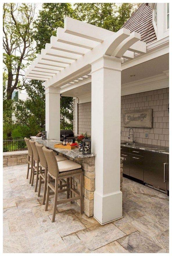 42 Diy Outdoor Bar Idea Enjoy Your Cocktails Apartmentpatioideas Outdoorbarideas Diyoutdoorbar Modern Outdoor Kitchen Outdoor Kitchen Design Patio Design