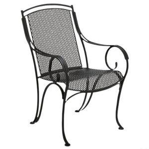 Forged Iron Chair Colonial Patio Dining Chairs Dining Arm