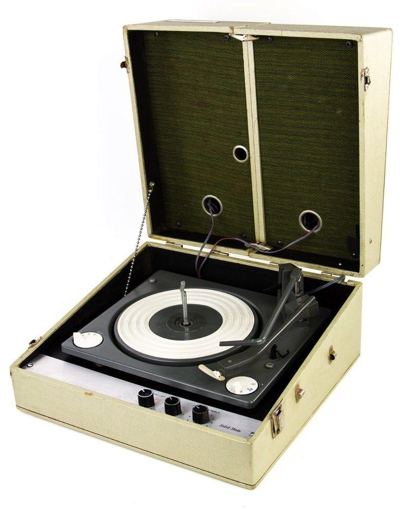 Vintage Decca Portable Record Player W Amp Fold