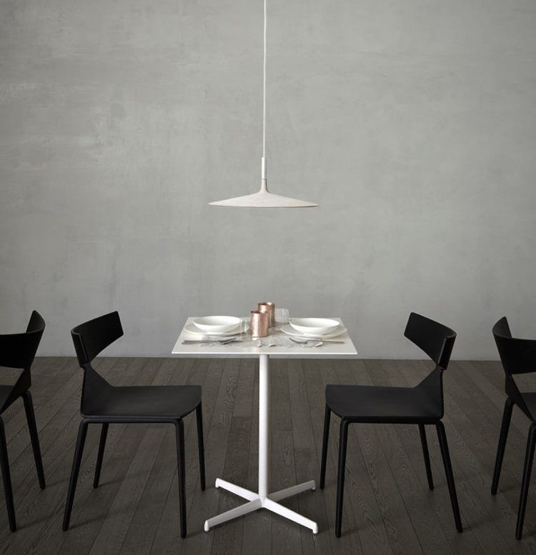 Pendelleuchte Für Esszimmer  Modern Beton Weiss Tellerleuchte Minimalistisch