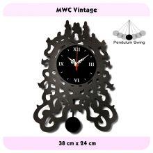 Jam Dinding Unik Desain Vintage Bergaransi Mesin Seiko Quartz Bergaransi Clock Wall Clock Vintage