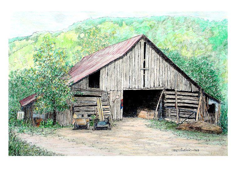 Colored Pencil Barn