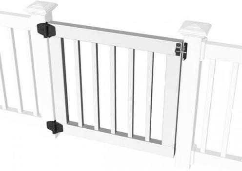 Lowes Gate Vinyl Gates Diy Deck Building A Deck