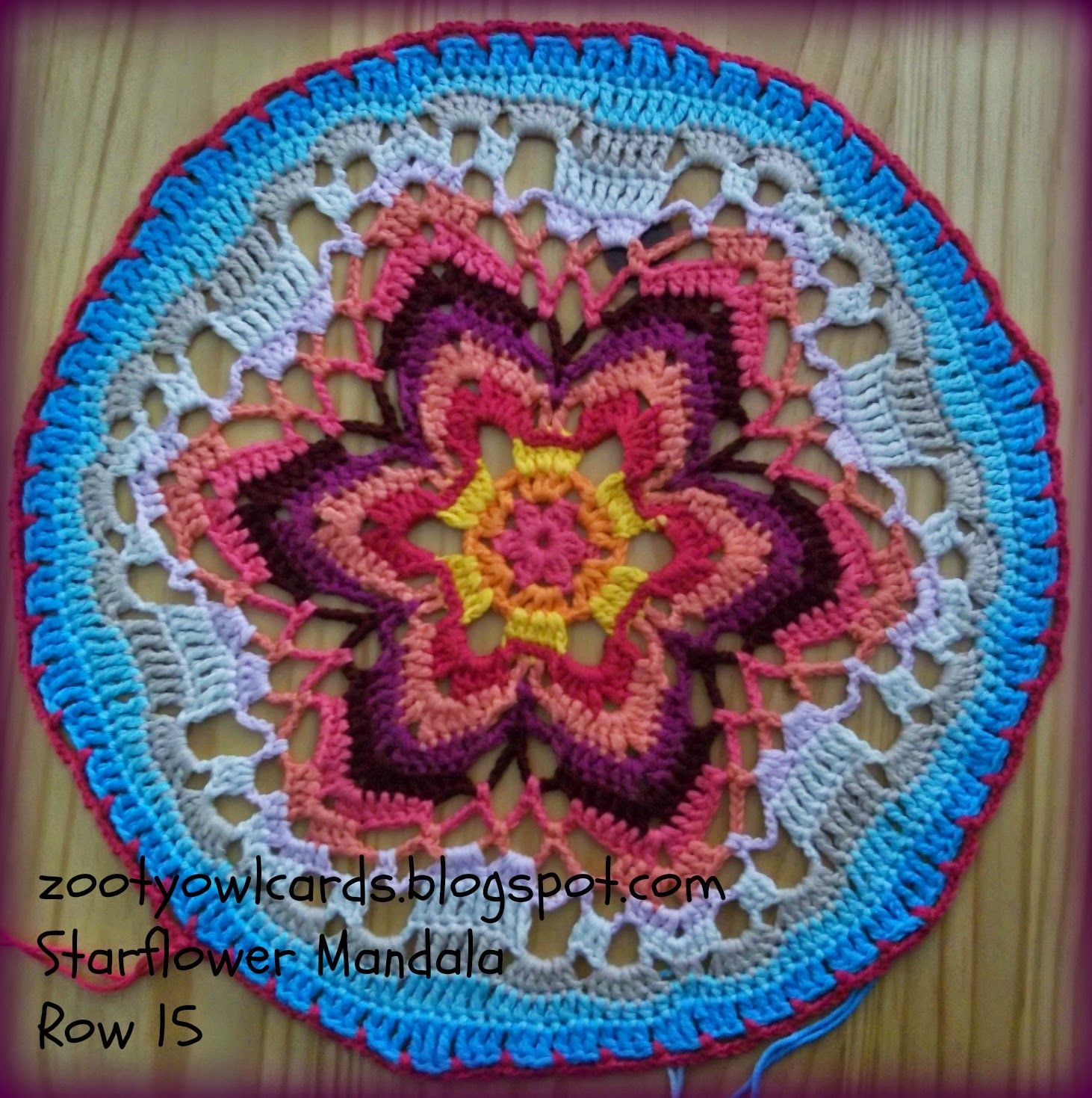 Starflower Mandala: Row by Row | Crochet, mandalas | Pinterest ...