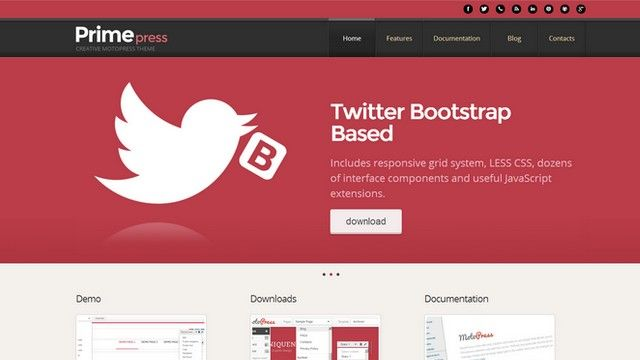 PrimePress is a free Twitter Bootstrap WordPress Theme. | Design ...