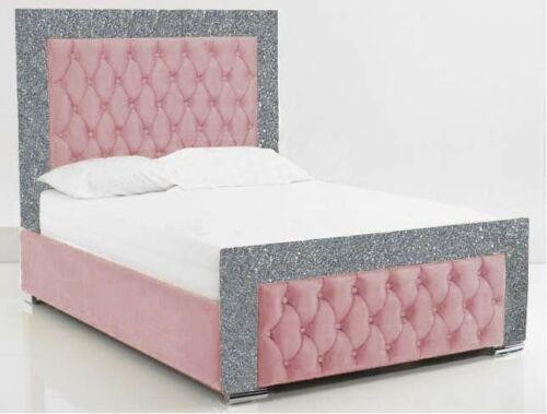 Luxe Curved Wingback Plush Velvet Bed In 2020 Crushed Velvet