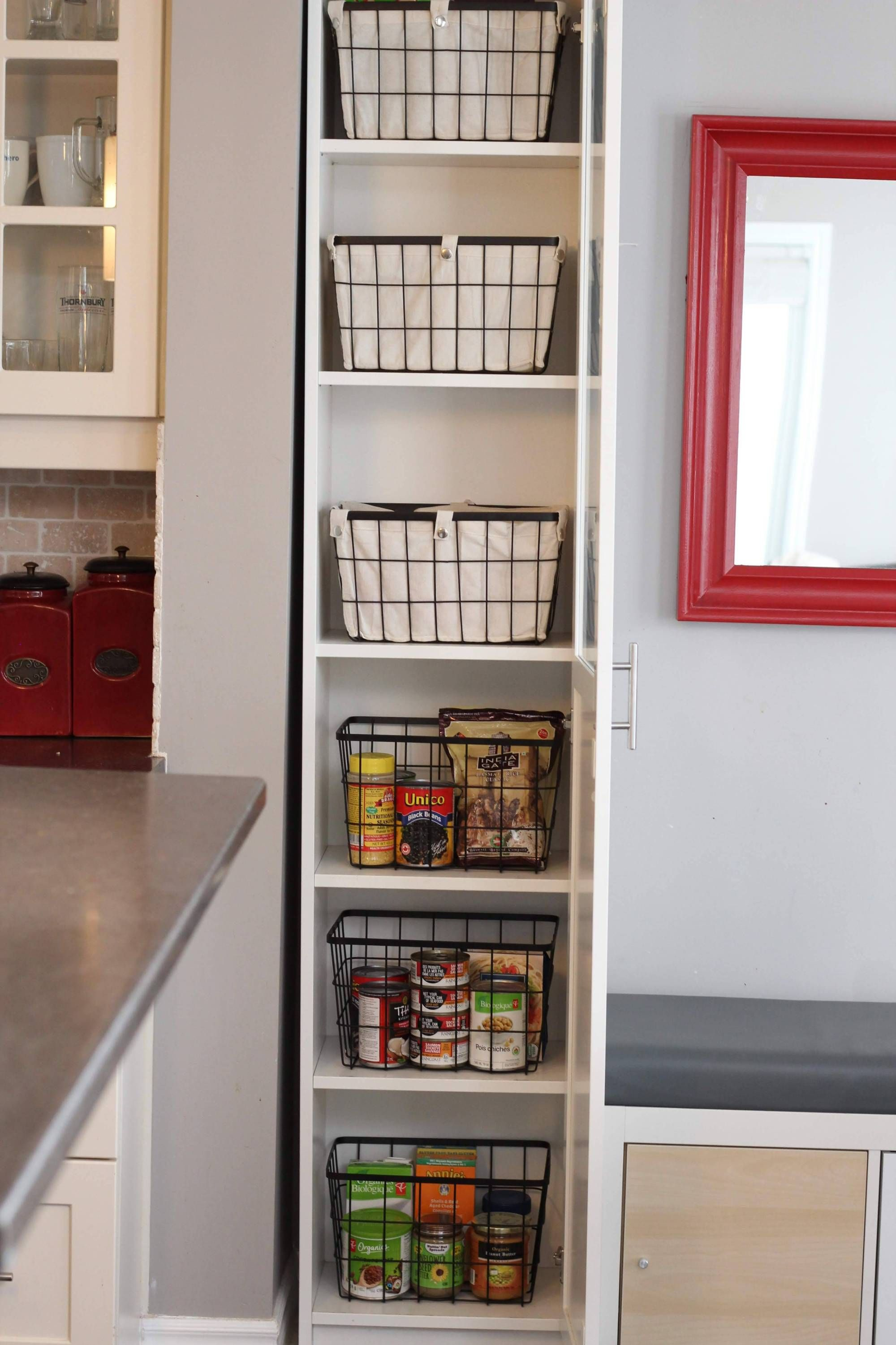 The Easiest Diy Kitchen Pantry Cabinet With The Ikea Billy Bookcase Hack In 2020 Billy Bookcase Hack Freestanding Kitchen Ikea Billy Bookcase Hack