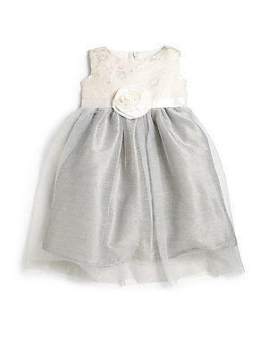 Us Angels Infant's Sparkle Brocade Dress