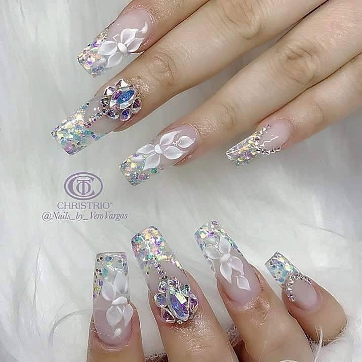 Pin by Amy Galindo on Nails | Pinterest | Nail wedding, Beautiful ...