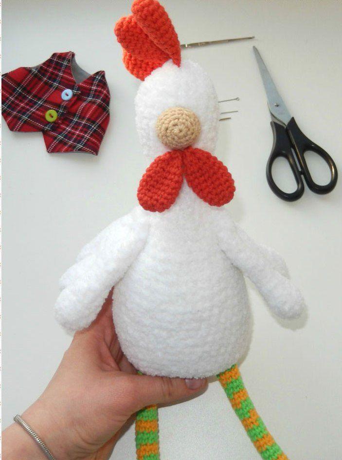 Rooster crochet pattern | Crotchet & knitting creative toys | Pinterest