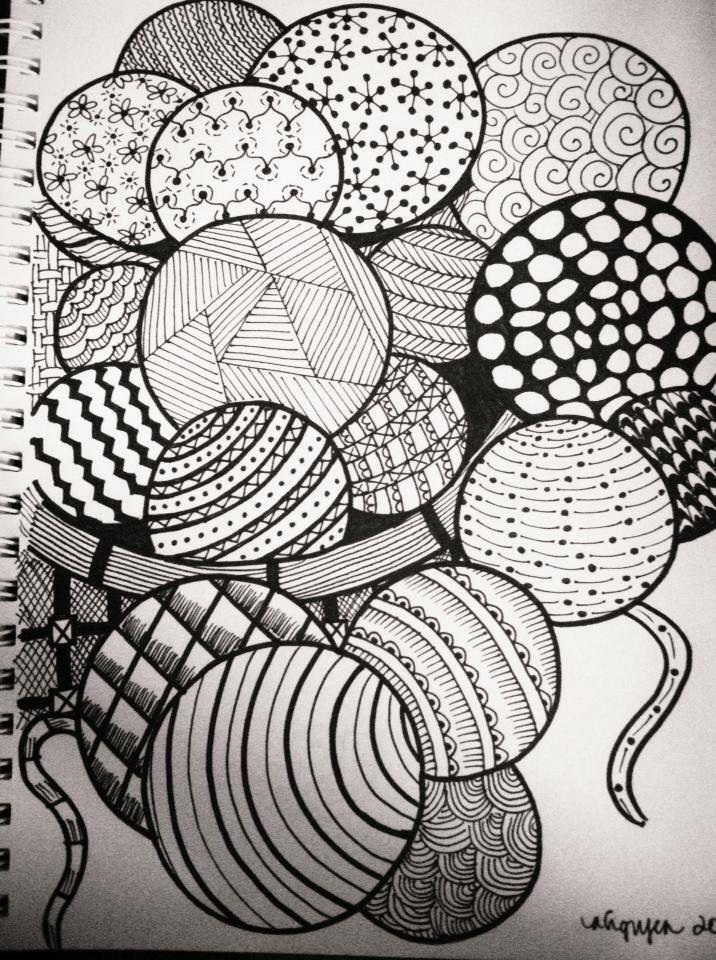 Balls Of Yarn Zentangle Mandala Design Art Doodle Art Designs