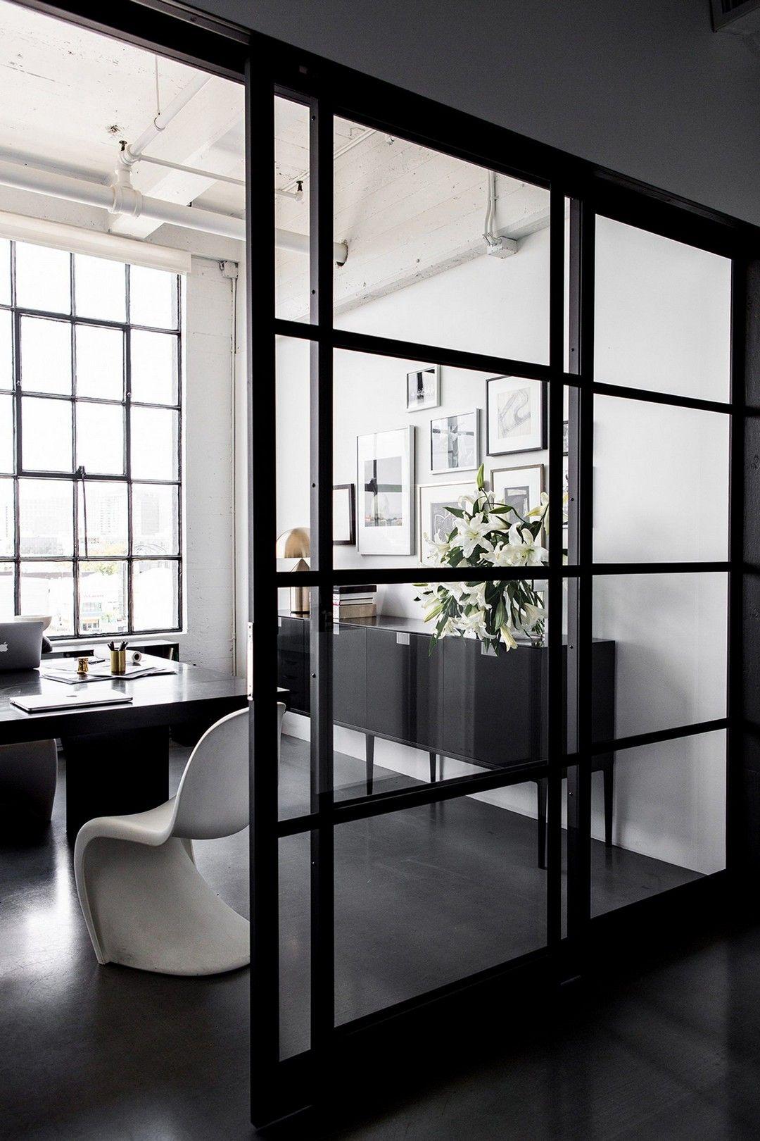 17 Modern Farmhouse Home Office With Black Window Trim – Farmhouse