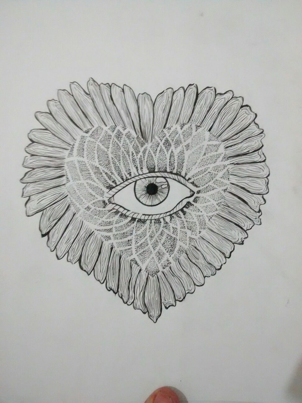 Sunflowers, hearts and dots. #dotwork #sunflower #tattooaprentice #eyes #lucasperine #dots