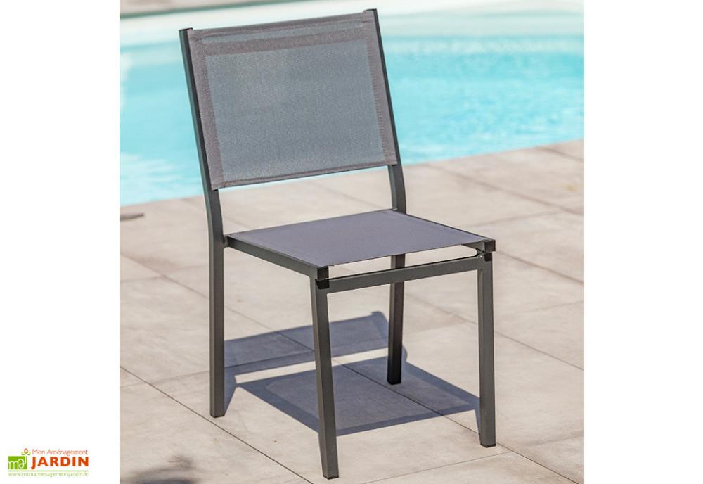chaise de jardin empilable en aluminium