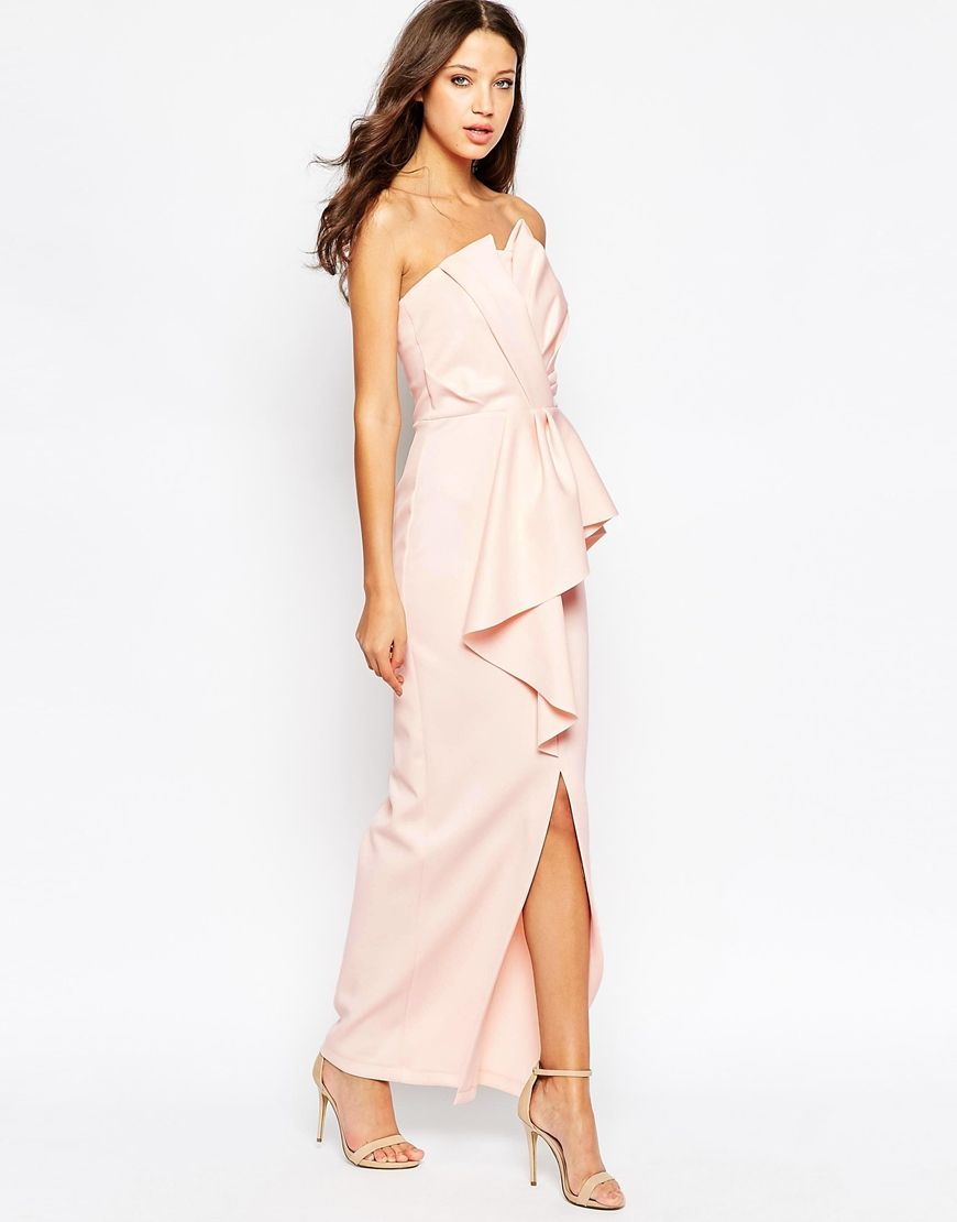 Image 4 of asos tall red carpet scuba bandeau heavy fold peplum image 4 of asos tall red carpet scuba bandeau heavy fold peplum maxi dress ombrellifo Images