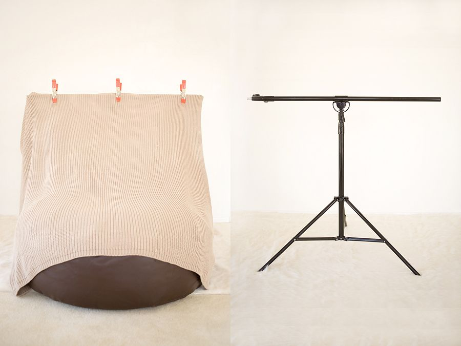 I like this compact backdrop stand for newborn photography