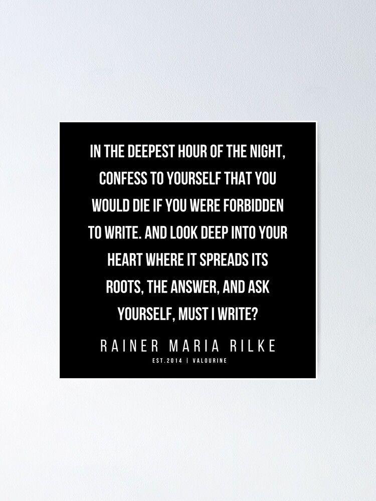 40 | 200416 | Rainer Maria Rilke Quotes | Rainer Maria Rilke Poems Poster by QuotesGalore