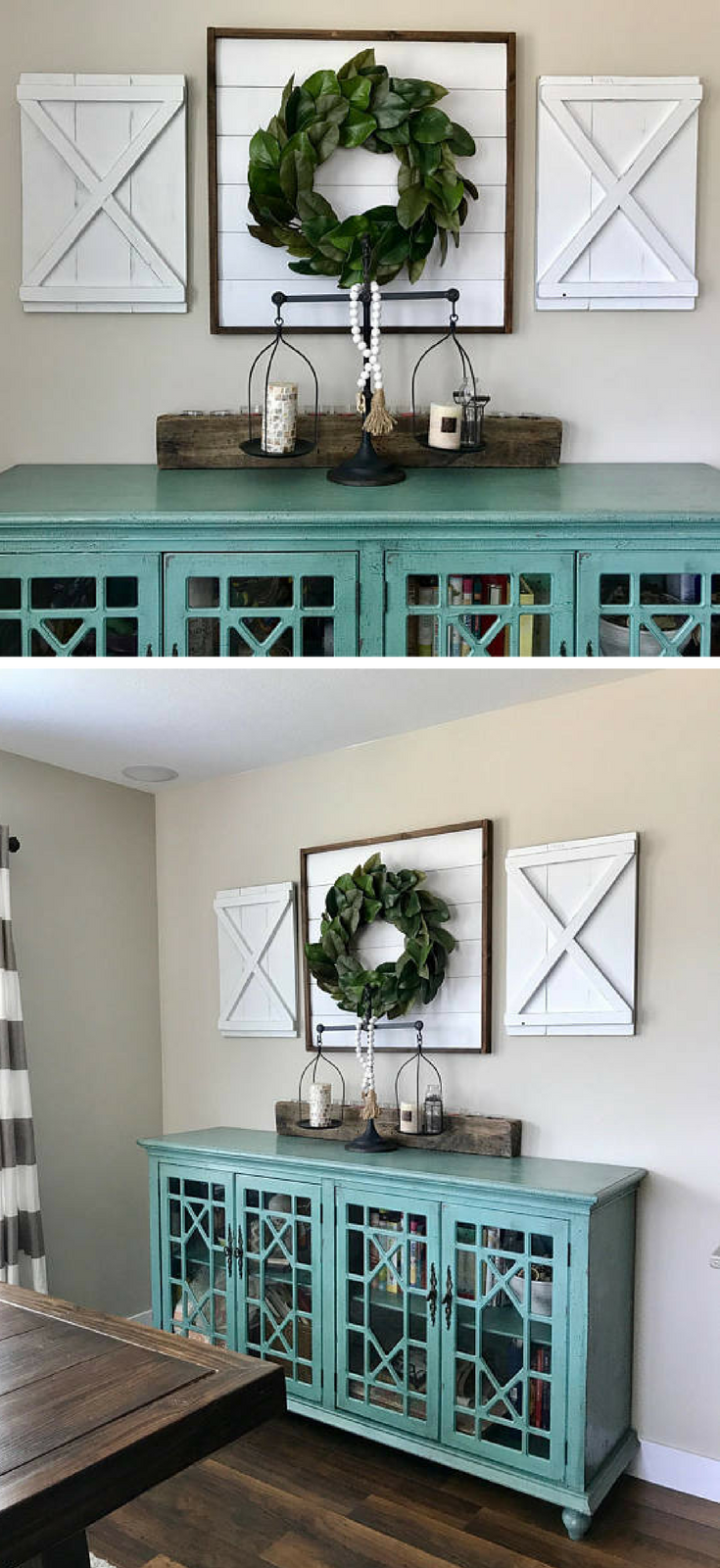 Pair Of Large Decorative X Wood Shutters. Rustic Shutters. Farmhouse  Shutters. Shutter Decor