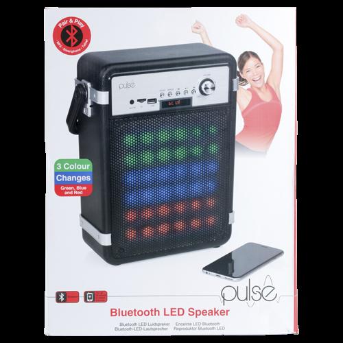 Pulse LED-Bluetooth-Lautsprecher schwarz