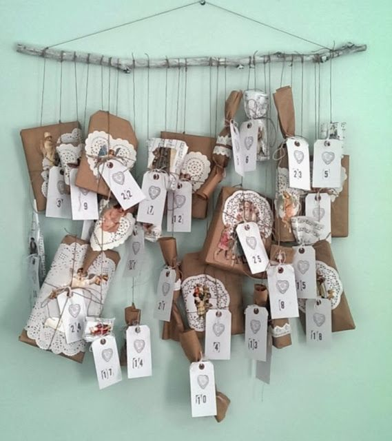 Vintage styling tips advent calendar presents on string via your make your own beautiful advent calendar no sew solutioingenieria Image collections