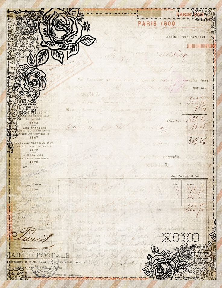 Vintage writing paper stationery design