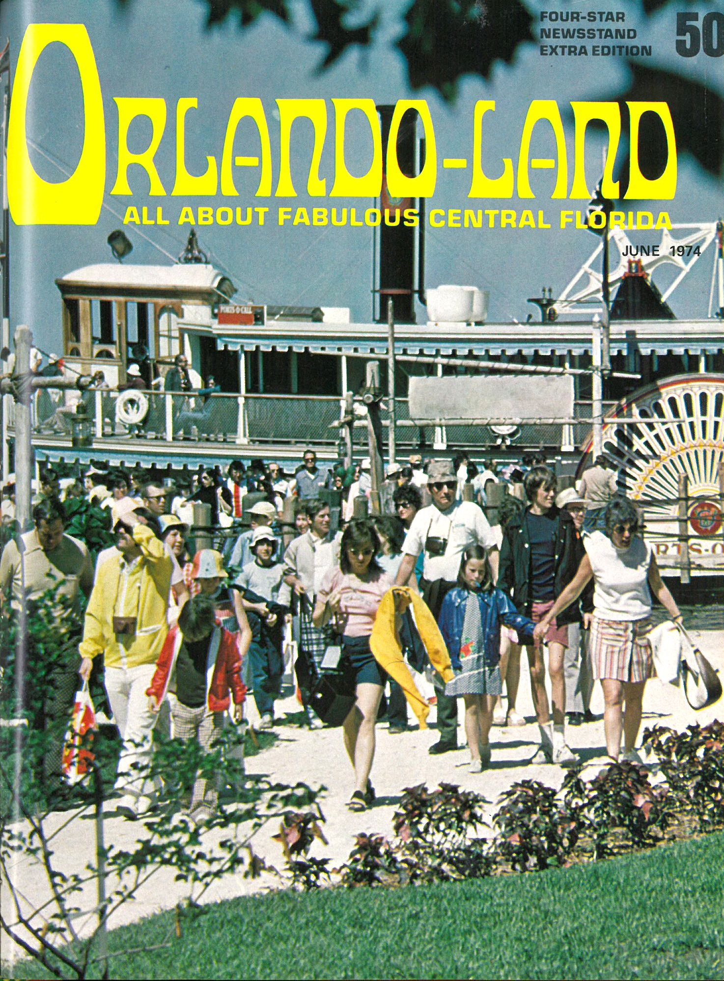 Vintage edition of Orlando magazine from June 1974, then