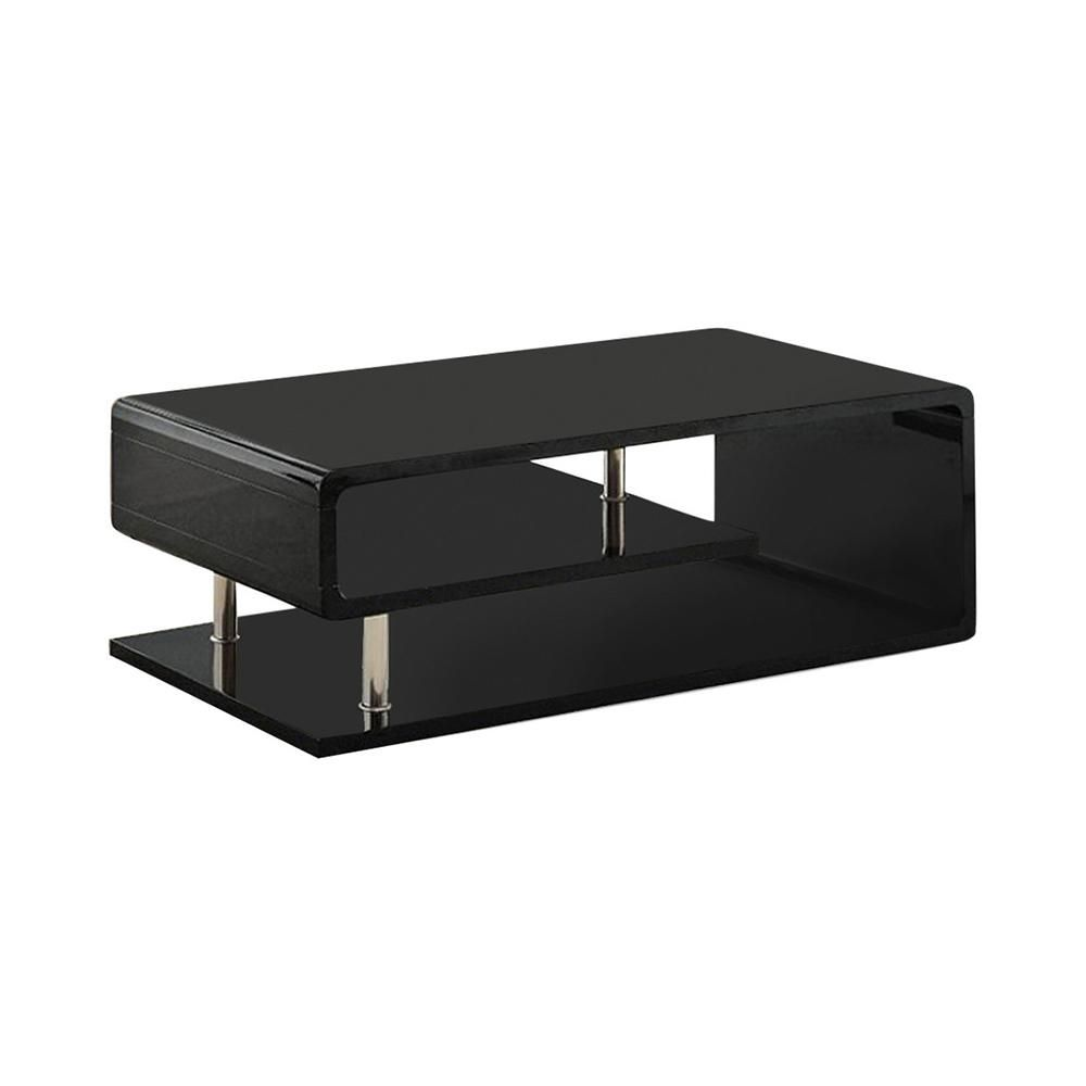 Benzara Black Ninove Contemporary Style Coffee Table Bm123099
