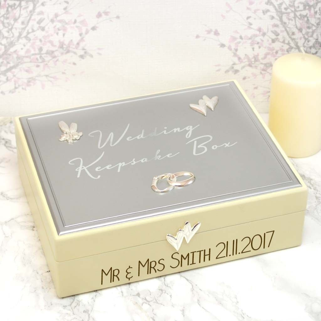 Personalised Wedding Keepsake Gift Box Personalized Wedding