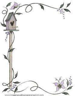 Bordes para decorar hojas  Diseos de cartas  Pinterest