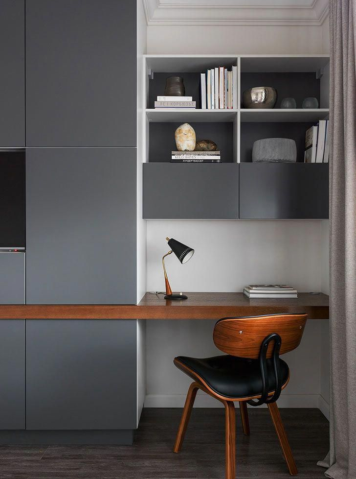 Modern apartment in calm colors the south of moscow sqm interior also best design images rh pinterest