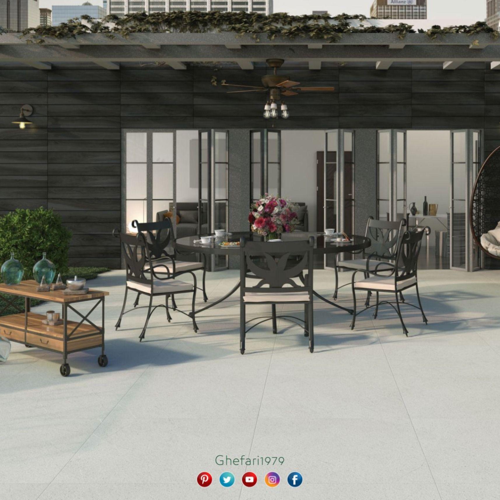 بورسلان ارضي أسباني Rocersa Ceramica للاستخدام الخارجي للحدائق اماكن اخرى للمزيد زورونا على موقع الشركة Https Www Ghef Outdoor Decor Home Decor Decor