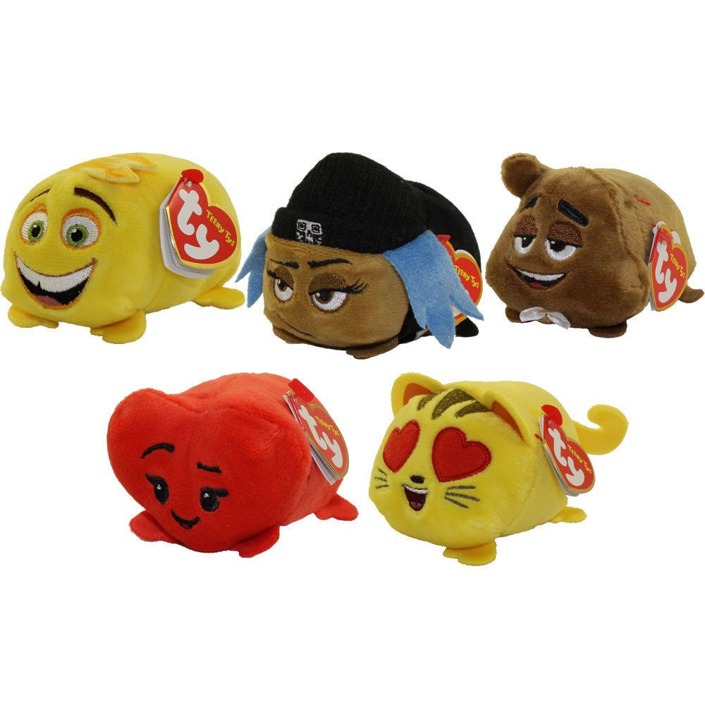 452774294ba Beanie Babies 2 0 165958  Set Of 5 Ty Teeny Tys 4 Emoji Movie Heart  Jailbreak Gene Poop Sr. Cat Heart Eye -  BUY IT NOW ONLY   17.99 on eBay!