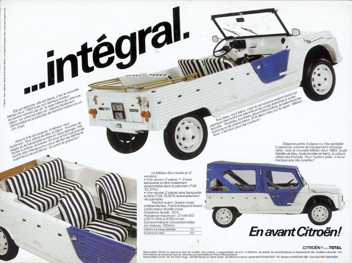 Citroen Mehari Brochure Citroen Beach Cars Citroen Car