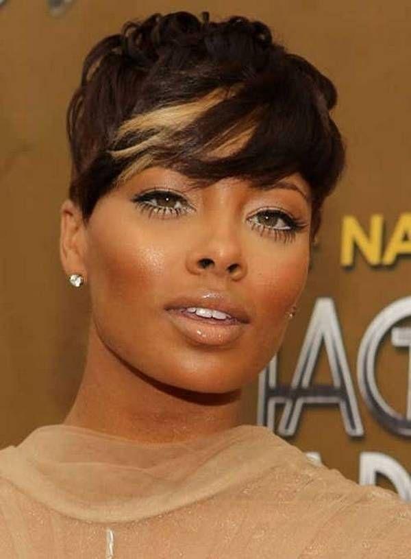 Brown With Blonde Highlights Hair Black Women Short Hair