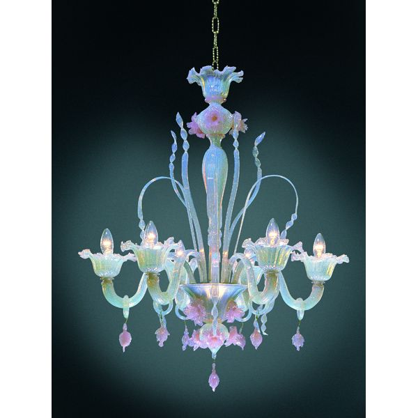 Pink Hand N Morano Chandelier Light